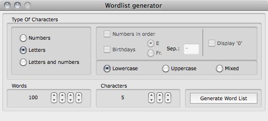 Cryptix wordlist generator